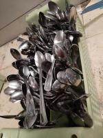 Rack of various spoons - tea - iced tea - tablespoons