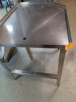 Sausage table - stainless with drain - pairs with # 10