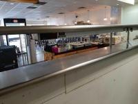 12 ' tafco stainless steel pass window - 2 lights