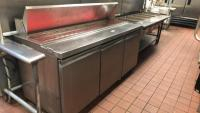 3 door refrigerator bar; 30