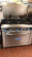 Royal 6 burner gas oven; 32