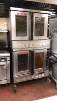 Blodgett 2 door gas oven on rollers; 38