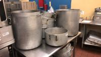7 commercial cooking pots