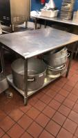 Stainless steel prep table(contents not included); 29