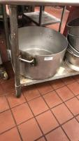 1 commercial cooking pot & 4 commercial strainers