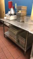 Stainless steel prep table(contents not included); 60