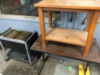Mobile file cart, office tables