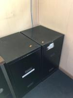 Metal file cabinet/2 drawers, four drawers, rolling metal file cabinet