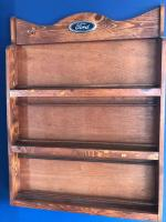 "31"" x 40"" x 4"" wooden display rack/Ford logo"
