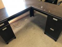 "Office corner desk, 60"" x 23"", 36"" x 19"" sections"