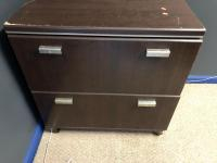 "29"" x 19"" x 30"" wooden file cabinet"