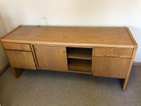 "Wooden office cabinet 66"" x 20"" x 28"""