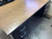 "30"" x 60"" office desk, metal file cabinet/4 drawers"