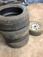 4 tires, Goodyear Wrangler included, wheel with rim and tire