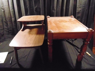 (2) Wood End Tables