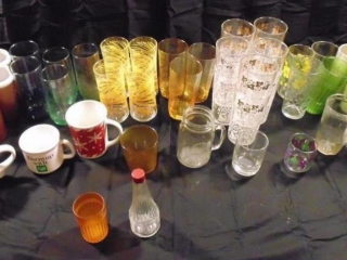Assorted Glass Cups And Coffee Mugs