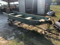 14ft Duracraft John Boat with Trailer
