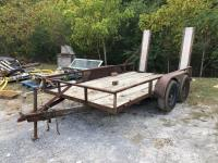 12ft Tandem Axle Trailer with Ramps