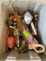 Lot- Tools, Inverter, Saw, Bits, misc. - Does not include bin