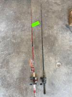 (2) Fishing Rods and Reels