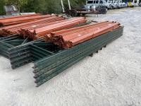 (5) 15ft Tall Pallet Racking Uprights with Side Beams