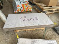 (25) Sheets of Peg Board