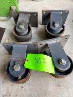(4) HD Casters
