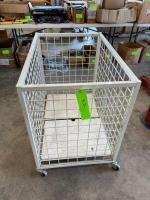 Rolling Metal Inventory Cart