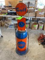 Gulf Gasoline Pump Art Decor