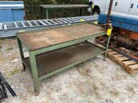 5ft Wide Work Table with Vise