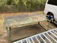 6ft Wide Work Table with Vise