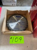 (10) New Irwin 7-1/4in 24T Saw Blades