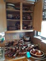 Very large set of hull and McCoy dishware