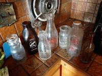 Various vintage dairy milk bottles
