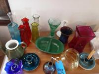 Misc. vases and candle holders