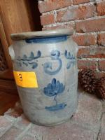 Vintage 3 gallon crock with handles