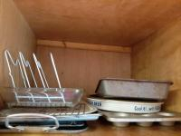 Contents of cabinet - bakeware