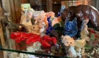Marble Toucans; Ceramics; Blown Glass; Copper Horse; Wood Pieces