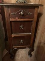 Antique 3 drawer cabinet