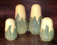 2 pairs of Shawnee Pottery salt and peppers