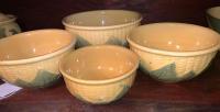 4 Shawnee Pottery bowls