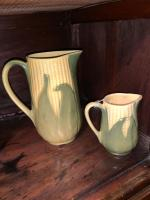Shawnee Pottery large and small pitcher