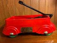 "Vintage child's 21"" pull toy wagon"
