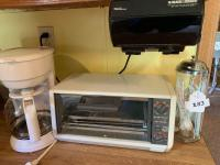 Black And Decker Toaster Oven; Spacemaker Can Opener; Coffee Maker; Straw Dispenser