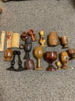 Wooden items - toys, cups, Car