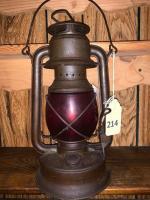 Stratco lantern w/ red globe