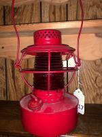 Handlin RR lantern w/ red globe