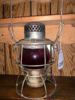 Adlake RR lantern w/ red globe