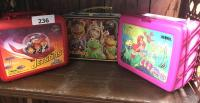 The Jetsons (movie) ; muppets; the little mermaid lunch boxes