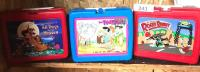 The Flintstones; Roger Rabit; all Dogs go to Heaven plastic lunch boxes